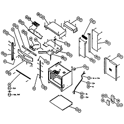 CPS127 Oven Cabinet Parts diagram