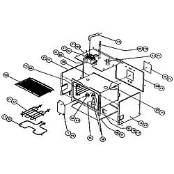 CPS127 Oven Non-conv oven Parts diagram