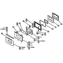 CPS130 Oven Door assy Parts diagram