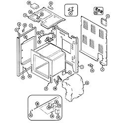 CRE9400ACL Range Body Parts diagram