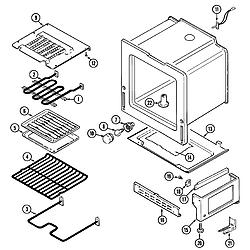 CRE9400ACL Range Oven/base Parts diagram