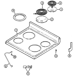 CRE9400ACL Range Top assembly Parts diagram