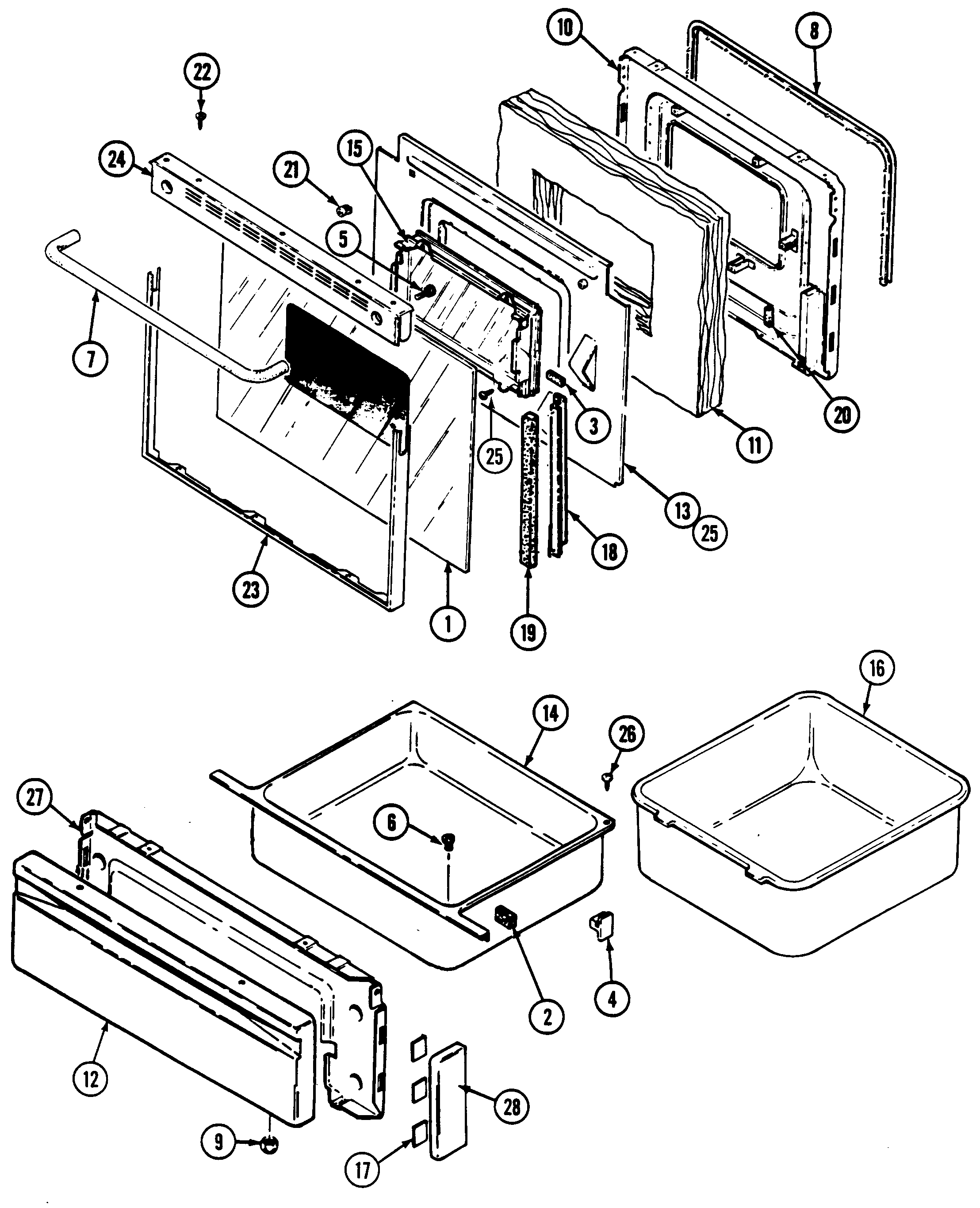 Control Panel Door Assembly Diagram Parts List For Model Mmv5165aaq