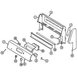 CRE9600 Range Control panel Parts diagram