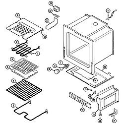 CRE9600 Range Oven/base Parts diagram