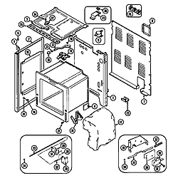 CRE9600ACE Range Body Parts diagram
