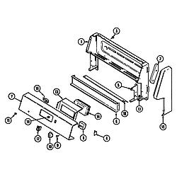 CRE9600ACW Range Control panel Parts diagram
