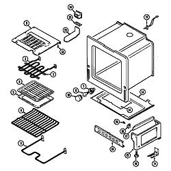 CRE9600ACW Range Oven/base Parts diagram