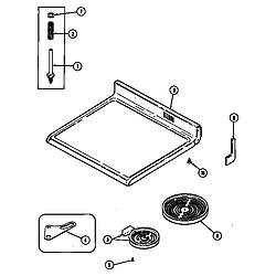 CRE9600ACW Range Top assembly Parts diagram