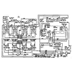 CRE9600ACW Range Wiring information Parts diagram