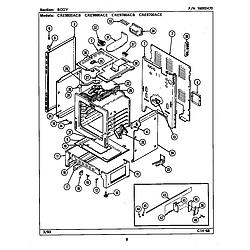 CRE9800ACE Range Body Parts diagram