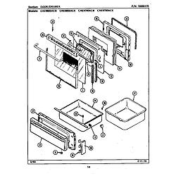 CRE9800ACE Range Door/drawer Parts diagram