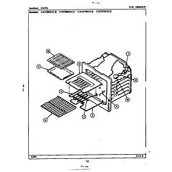 CRE9800ACE Range Oven Parts diagram
