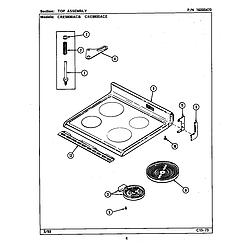 CRE9800ACE Range Top assembly (cre9800ac*) (cre9800acb) (cre9800ace) Parts diagram