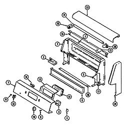 CRE9830CDE Electric Range Control panel Parts diagram