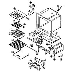 CRE9830CDE Electric Range Oven/base Parts diagram