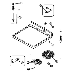 CRE9830CDE Electric Range Top assembly Parts diagram