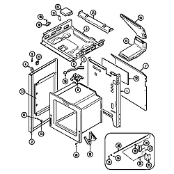 CRG9600 Range Body Parts diagram