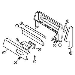 CRG9600 Range Control panel Parts diagram