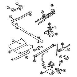 CRG9600 Range Gas controls Parts diagram
