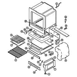 CRG9600 Range Oven/base Parts diagram
