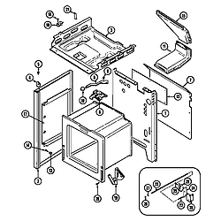 CRG9700AAL Range Body Parts diagram