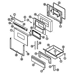 CRG9700AAL Range Door/drawer Parts diagram