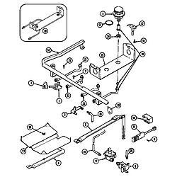 CRG9700AAW Range Gas controls Parts diagram