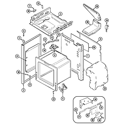 CRG9700CAE Range Body Parts diagram