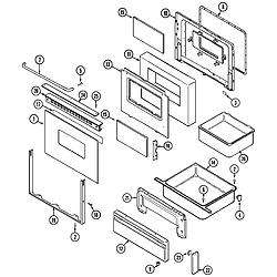 CRG9700CAE Range Door/drawer Parts diagram