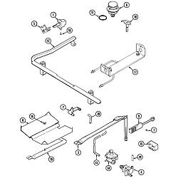 CRG9700CAE Range Gas controls Parts diagram