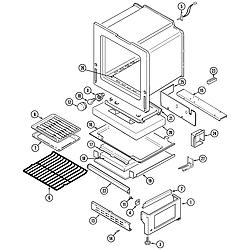 CRG9700CAE Range Oven/base Parts diagram
