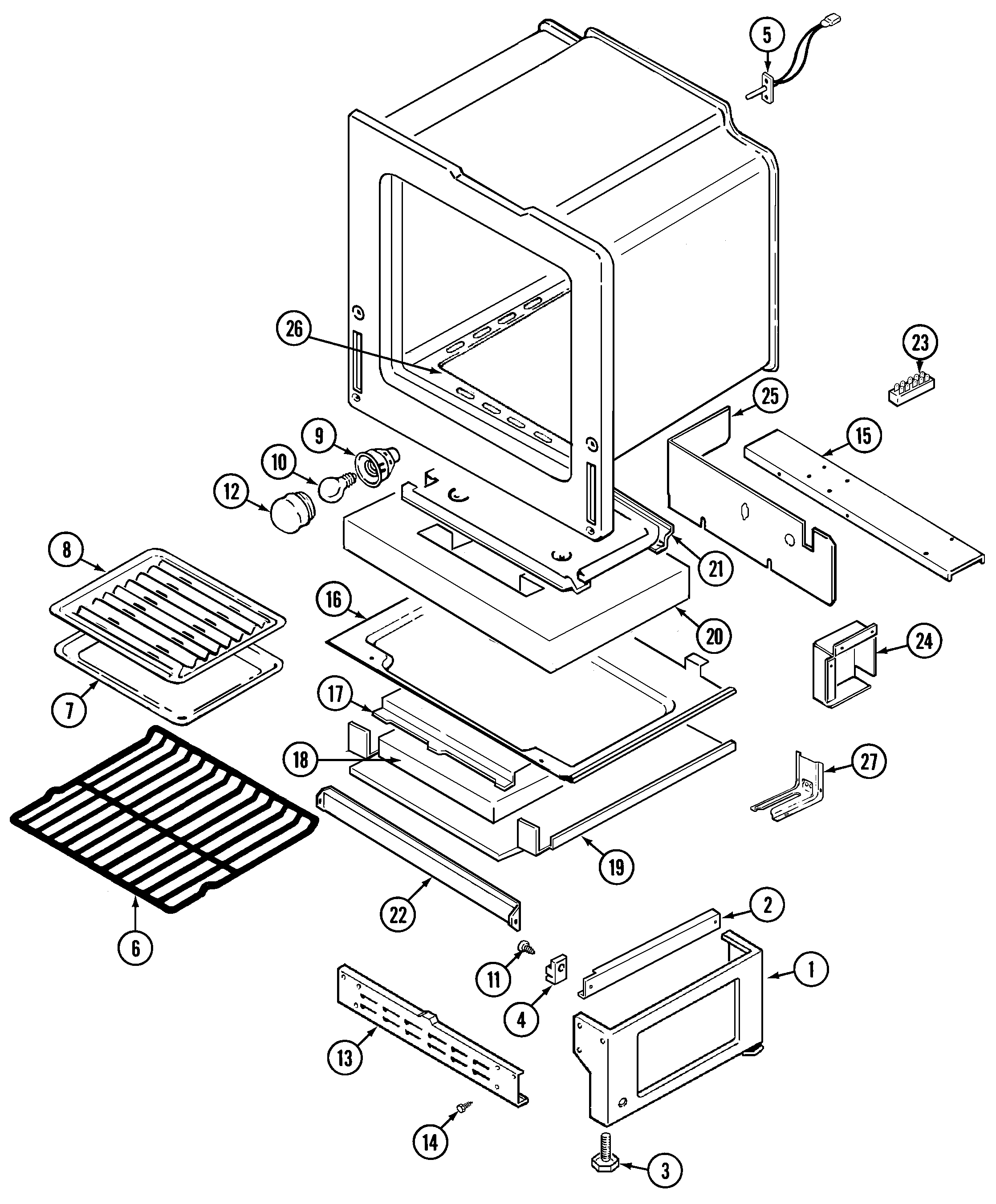 crg9700cae range oven/base parts diagram