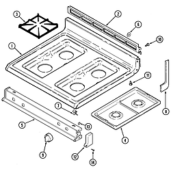 CRG9700CAE Range Top assembly Parts diagram