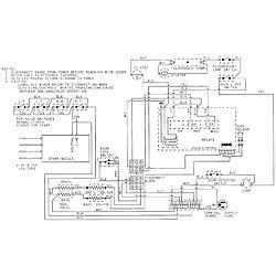 CRG9700CAE Range Wiring information Parts diagram