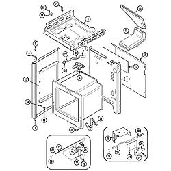 CRG9800AAE Range Body Parts diagram