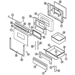 CRG9800AAE Range Door/drawer Parts diagram
