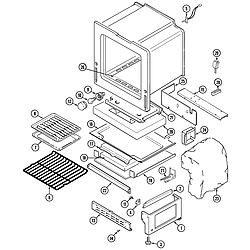 CRG9800AAE Range Oven/base Parts diagram
