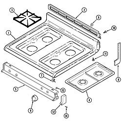CRG9800AAE Range Top assembly Parts diagram