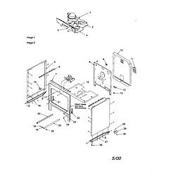 CST6512WW Electric Range Cabinet Parts diagram