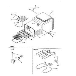 CST6512WW Electric Range Cavity Parts diagram