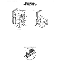 CT227N Electric Wall Oven Insulation kit Parts diagram