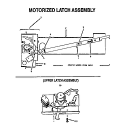 CT227N Electric Wall Oven Latch assembly Parts diagram