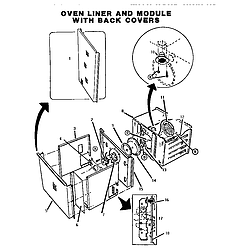 CT227N Electric Wall Oven Oven liner Parts diagram