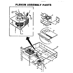 CT227N Electric Wall Oven Plenum assembly Parts diagram