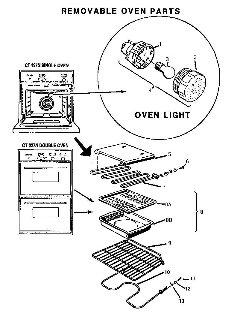Bosch ct227n electric wall oven timer stove clocks and appliance ct227n electric wall oven removable oven parts diagram sciox Choice Image