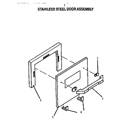 CT227N Electric Wall Oven Stainless steel door assembly Parts diagram
