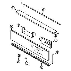 CWE9000ACE Range Control panel (cwe9000bcb) (cwe9000bce) (cwe9000bdb) (cwe9000bde) Parts diagram