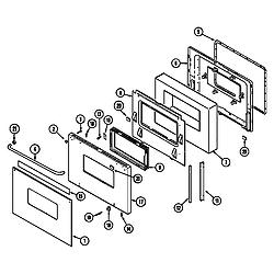 CWE9000ACE Range Door (cwe9000bcb) (cwe9000bce) (cwe9000bdb) (cwe9000bde) Parts diagram