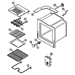 CWE9000ACE Range Oven (cwe9000bcb) (cwe9000bce) (cwe9000bdb) (cwe9000bde) Parts diagram